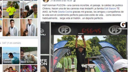 DEPORTISTAS EN LA RED: Luis Casatti en Triatlón de Pucón, Chile.