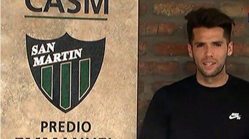 """Emmanuel Mas y su amor por San Martín: """"Escuchaba pasar cantando la hinchada y eso me gustaba»"""
