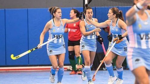 Luciana Agudo y Carina Guzmán marcaron por duplicado en la goleada albiceleste