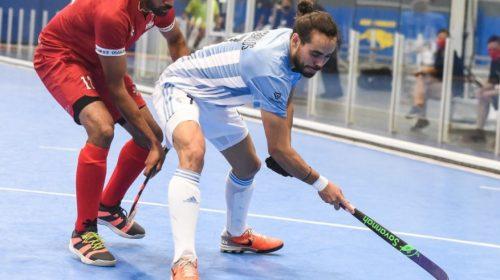 Con Agustín Ceballos, la selección masculina de hockey pista volvió a ganar