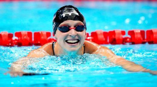 Los estadounidenses Ledecky y Dressel fueron protagonistas en la natación del sábado