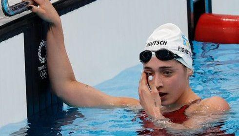 Delfina Pignatiello fue última en su serie y se despidió de Tokio
