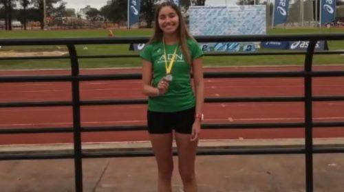 Julieta Molina, la atleta vallista que se bañó de oro en el Nacional de atletismo
