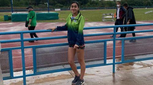 Pocito destacó a Fernanda Moreno tras su participación en el Nacional de atletismo