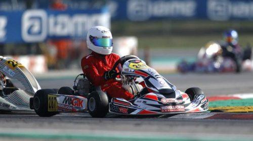 Joaquín Naranjo remontó posiciones y se impuso en la Final C del Mundial de Karting en Italia